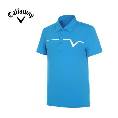 [캘러웨이]남성 솔리드 카라 반팔 티셔츠 CMTYF2121-906