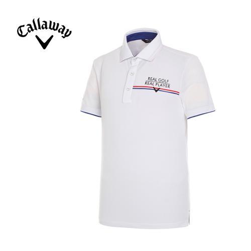 [캘러웨이]남성 쿨 라인 카라 반팔 티셔츠 CMTPF2112-100