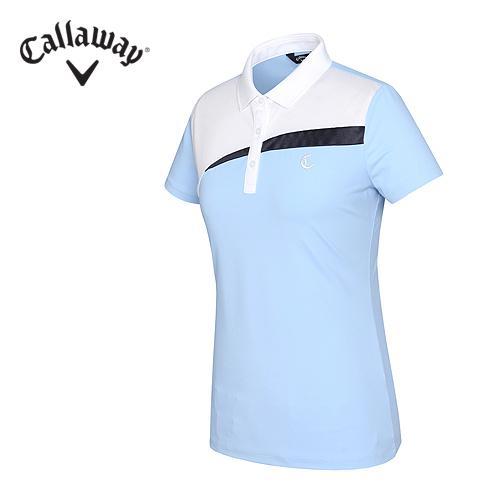[캘러웨이]여성 컬러 블럭킹 쿨 티셔츠 CWTPF6173-920