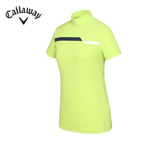 [캘러웨이]여성 기능성 배색 UV 터틀넥 티셔츠 CWTHF6157-204
