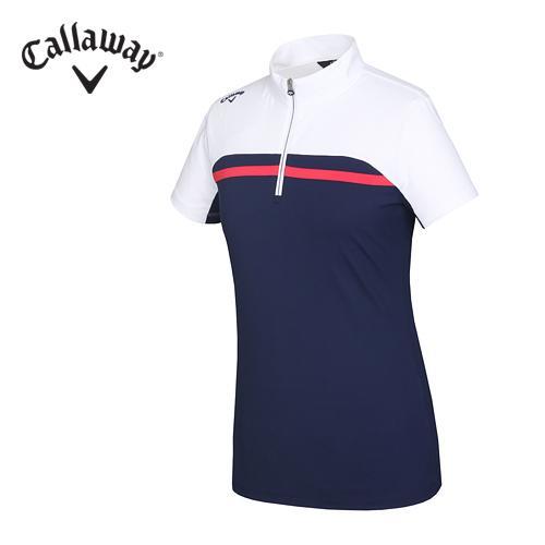 [캘러웨이]여성 기능성 보더배색 하이넥 티셔츠 CWTHF6156-915