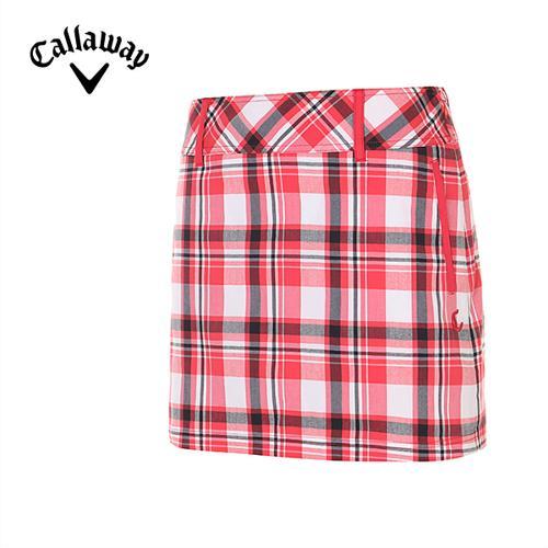 [캘러웨이]여성 타탄체크 큐롯 팬츠 CWPCE6594-500