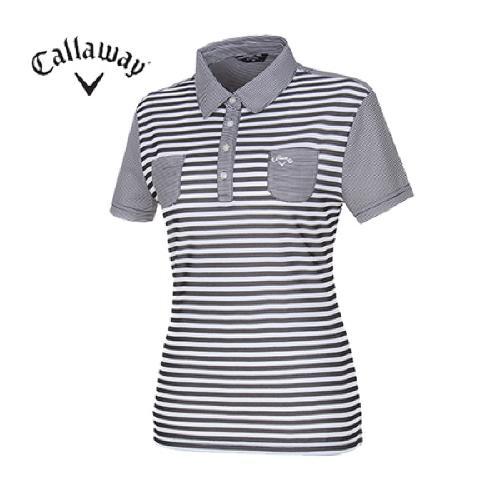 [캘러웨이]여성 컬러블록 패턴 티셔츠 CWQYD6132-199