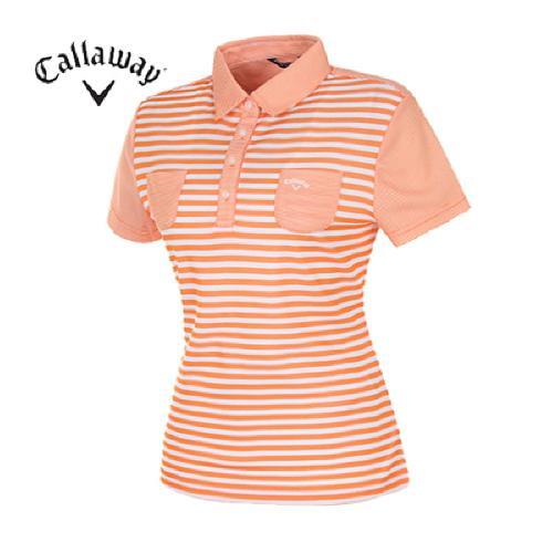 [캘러웨이]여성 컬러블록 패턴 티셔츠 CWQYD6132-301