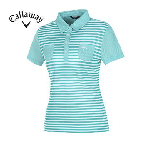 [캘러웨이]여성 컬러블록 패턴 티셔츠 CWQYD6132-804