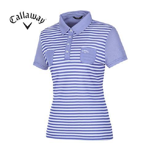 [캘러웨이]여성 컬러블록 패턴 티셔츠 CWQYD6132-906