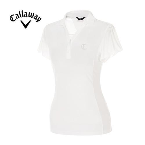 [캘러웨이]여성 케이프 슬리브 Y넥 반팔 티셔츠 CWTYE6174-100