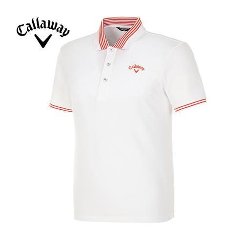[캘러웨이]남성 솔리드 반팔 폴로넥 티셔츠 CMTPE2192-100