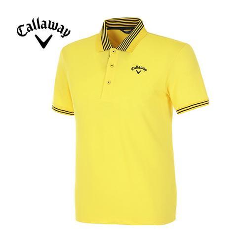 [캘러웨이]남성 솔리드 반팔 폴로넥 티셔츠 CMTPE2192-203
