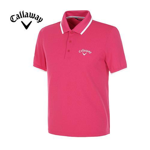 [캘러웨이]남성 패치 로고 반팔 폴로넥 티셔츠 CMQPD2143-403