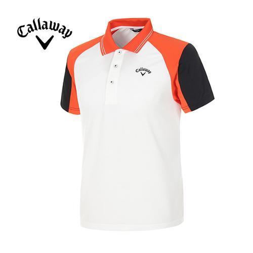 [캘러웨이]남성 컬러블럭 스포티 반팔 폴로넥 티셔츠 CMTPE2120-301
