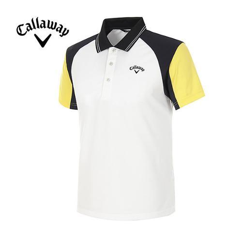 [캘러웨이]남성 컬러블럭 스포티 반팔 폴로넥 티셔츠 CMTPE2120-199