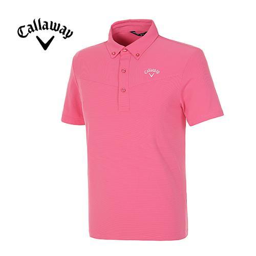 [캘러웨이]남성 스트라이프 반팔 폴로넥 티셔츠 CMTYE2194-403