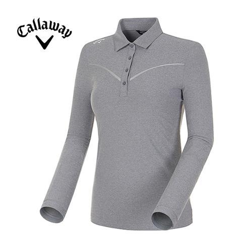 [캘러웨이]18SS 여성 웰딩 쉐브론 라인 긴팔 카라 티셔츠 CWTYH5102-193