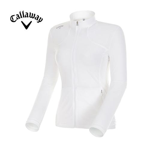 [캘러웨이]여성 솔리드 냉감 집업 티셔츠 CWTCF6161-100