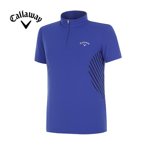 [캘러웨이]남성 스포티 라이크라 반집업 반팔 티셔츠 CMTHF2152-907