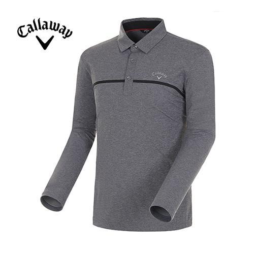 [캘러웨이]18SS 남성 스포티 메쉬믹스 긴팔 티셔츠 CMTYH1152-193