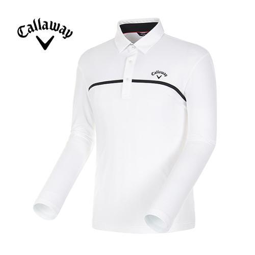 [캘러웨이]18SS 남성 스포티 메쉬믹스 긴팔 티셔츠 CMTYH1151-100