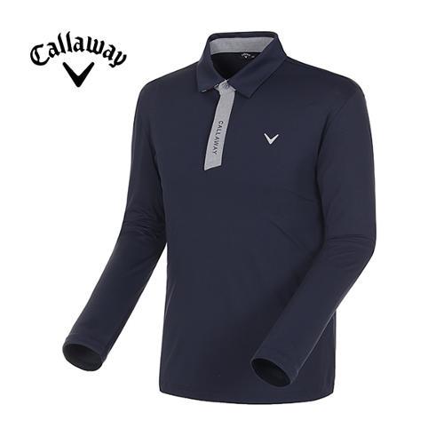 [캘러웨이]18SS 남성 카라 배색 자외선차단 긴팔 티셔츠 CMTYH1102-925