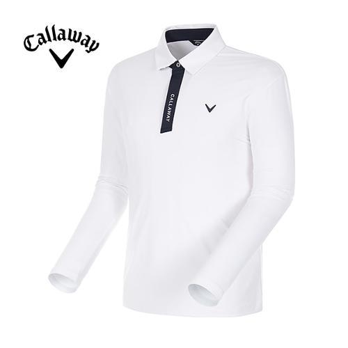 [캘러웨이]18SS 남성 카라 배색 자외선차단 긴팔 티셔츠 CMTYH1102-100