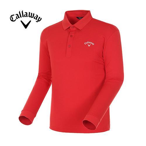 [캘러웨이]18SS 남성 베이직 폴로 카라 긴팔 티셔츠 CMTPH1101-500