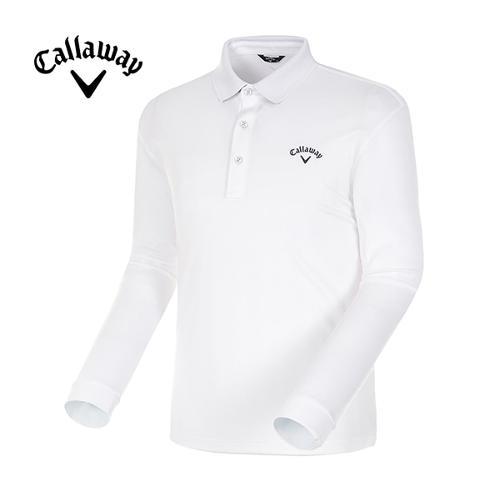 [캘러웨이]18SS 남성 베이직 폴로 카라 긴팔 티셔츠 CMTPH1101-100