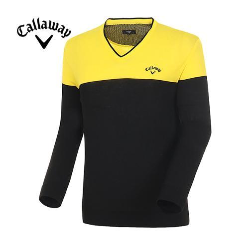 [캘러웨이]남성  컬러 블록 브이넥 스웨터 CMSRE1204-203
