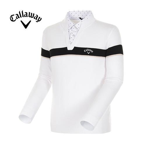 [캘러웨이]18SS 남성 라인 블록 셔츠 레이어드 스웨터 CMSRH1272-100
