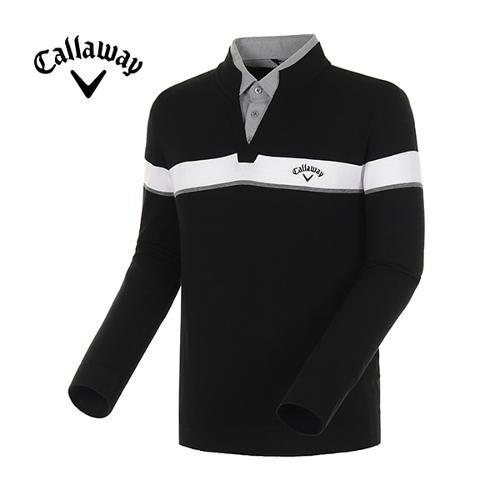 [캘러웨이]18SS 남성 라인 블록 셔츠 레이어드 스웨터 CMSRH1272-199