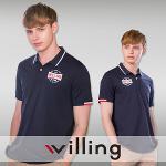 윌링 남성 쿨 스트래치 셔츠 반팔 네이비 WH7B MTS 골프웨어 골프의류 골프용품 필드용품 필드웨어