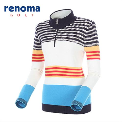 [레노마골프]여성 컬러풀 반집업 스웨터 RAKP51511-BL