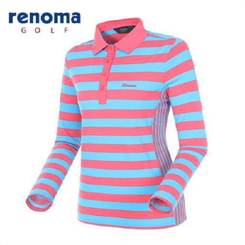 [레노마골프]여성 컬러블록 스트라이프 요꼬 티셔츠 RATS52511-LB