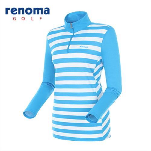 [레노마골프]여성 스트라이프 롱 반집업 티셔츠 RATS63511-BL