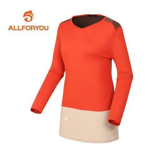 [올포유]여성 배색 라운드 스웨터 AWSRD5253-301