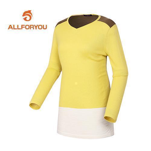 [올포유]여성 배색 라운드 스웨터 AWSRD5253-203