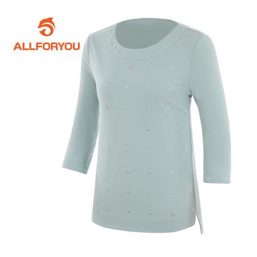 [올포유]여성 피츠 라운드 7부 티셔츠 AWTRF5164-830
