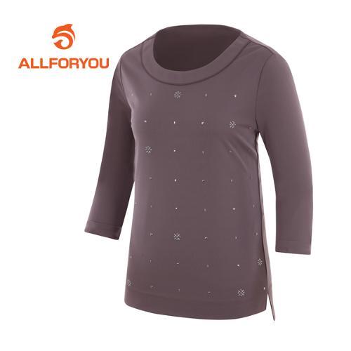 [올포유]여성 피츠 라운드 7부 티셔츠 AWTRF5164-192