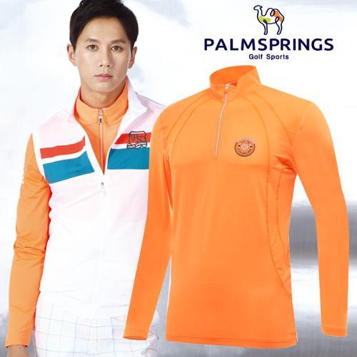 [팜스프링] 폴리스판 통풍매쉬 하프집업 남성 긴팔 티셔츠/골프웨어_236825