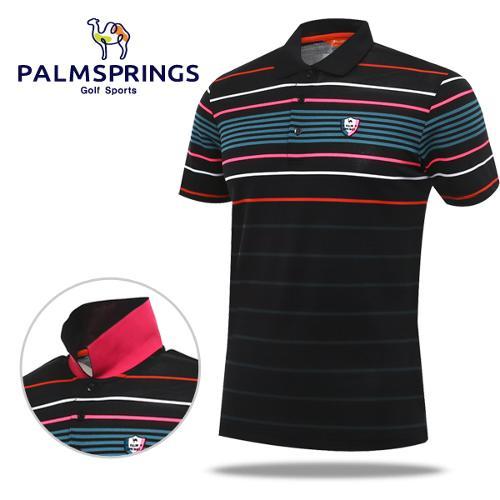 [팜스프링] 형광포인트줄무늬 남성 반팔 티셔츠/골프웨어_236725