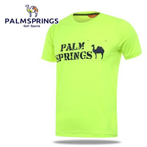 [팜스프링] 형광 라운드넥 가슴포켓 남성 반팔 티셔츠/골프웨어_236701