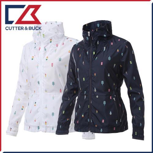 커터앤벅 여성 풀집업 프린팅 패턴포인트 바람막이/자켓 - SL-11-162-206-02