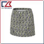 커터앤벅 여성 스판소재 기하학 패턴프린트 큐롯 치마/스커트- SL-11-161-205-21