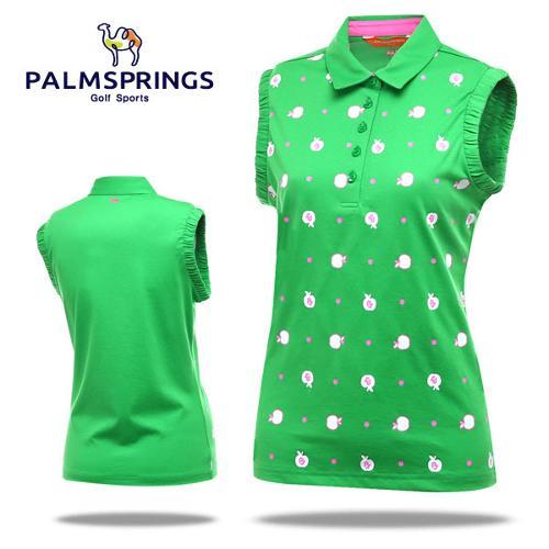 [팜스프링] 애플도트 소매셔링 여성 민소매 티셔츠/골프웨어_236772