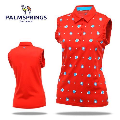 [팜스프링] 애플도트 소매셔링 여성 민소매 티셔츠/골프웨어_236771