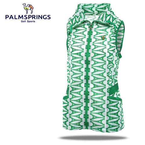[팜스프링] 매쉬 에펠탑무늬 셔링밴드 여성 바람막이 조끼/골프웨어_236690