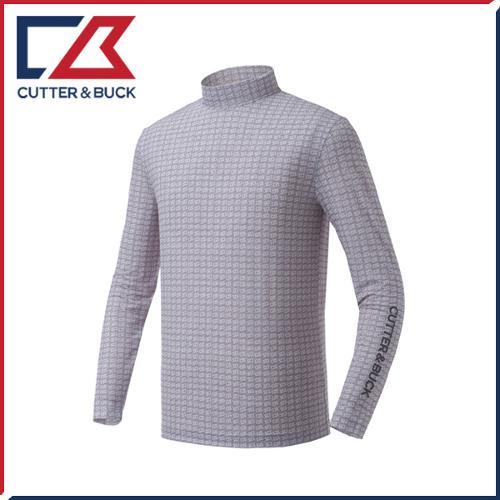 커터앤벅 남성 스판소재 패턴포인트 목폴라 기능성티셔츠 - PB-11-172-101-02