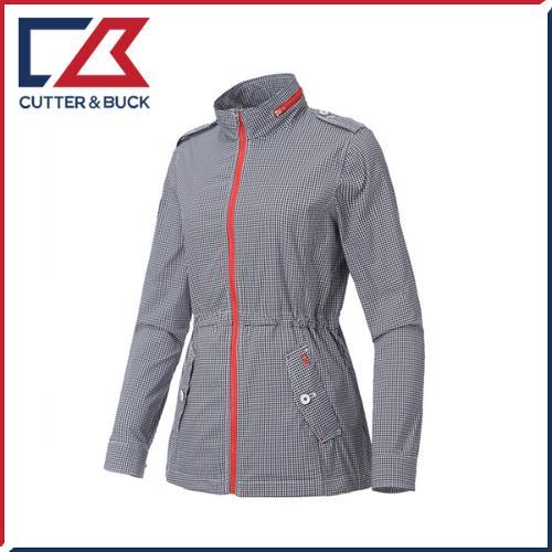 커터앤벅 여성 풀집업 체크무늬 메모리 사파리 자켓/점퍼 - PB-11-171-206-01