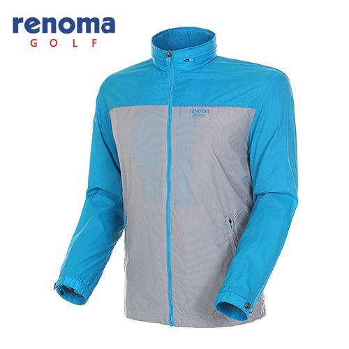 [레노마골프]남성 컬러 블럭 바람막이 집업 점퍼 RAWJ01511-GR