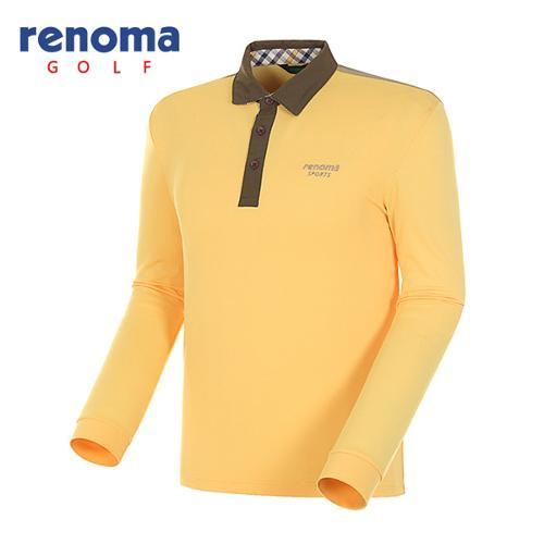 [레노마골프]남성 백 스트라이프 긴팔 폴로넥 티셔츠 RATS08511-MS