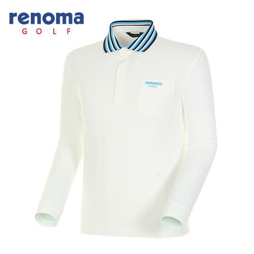 [레노마골프]남성 스트라이프 긴팔 폴로넥 티셔츠 RATS01511-OW